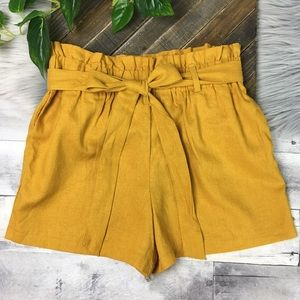 HAVE Fashion Paperbag Shorts Linen Blend Large